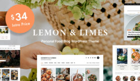 Lemon & Limes – Food Blog WordPress Theme