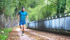 Man marathon runner