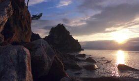 Olkhon. Shamanka Rock Sunset Timelapse