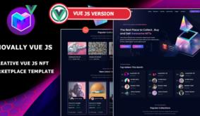 Novally – Vue JS NFT Marketplace Template