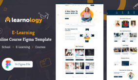 Learnology – eLearning Online Course Figma Template