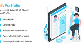 InfyPortfolio-Saas – Laravel Saas Personal Portfolio / Resume / CV Website Theme