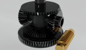 Worm differential Gear mechanism