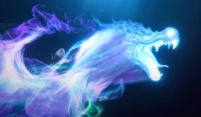 Particles Fantasy Dragon Logo