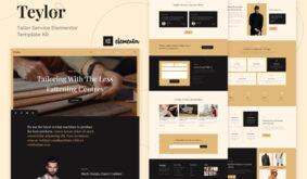Teylor – Tailor Service Elementor Template Kit