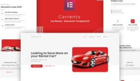 Carrentx – Car Rental Elementor Template Kit