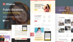 Minerva – Public Relation & Creative Agency Elementor Template Kit