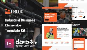 Firoox – Industrial Business Elementor Template Kit