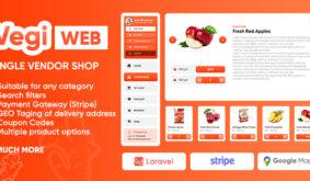 Vegi (Web) – The Ultimate Grocery – Food – Milk Ordering PHP Laravel Script & Admin Panel