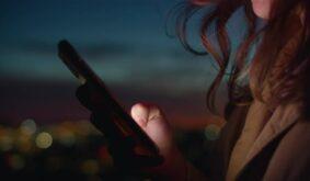 Close Up of Woman Scroll Through App Social Media