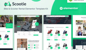 Scootie – Bike & Scooter Rental Elementor Template Kit