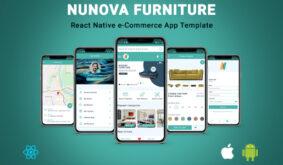 NunovaFurniture | React Native eCommerce App Template