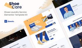 Shoecare – Shoe Laundry Service Elementor Template Kit