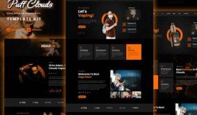 Puff Clouds – Vape Store & Community Elementor Template kit