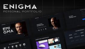 Enigma – Personal Portfolio Elementor Template Kit