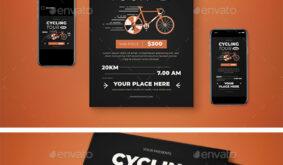 Cycling Tournament Flyer Set