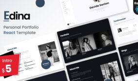 Edina – Personal Portfolio React Template