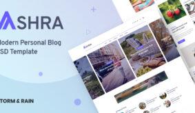 Ashra – Modern Personal Blog Psd Template