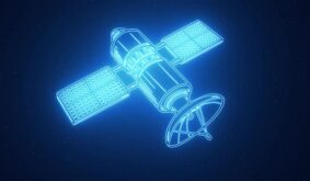 Satellite In Space Animation