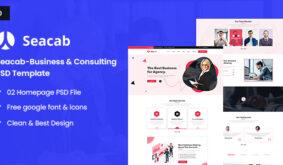 Seacab-Creative Agency PSD Template