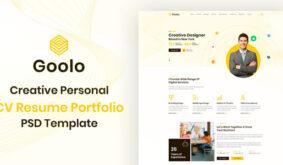 Goolo | Personal Portfolio PSD Template