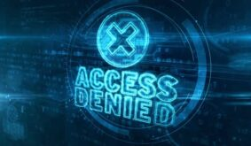 Access Denied neon sign abstract