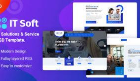 ITsoft – Technology PSD Template