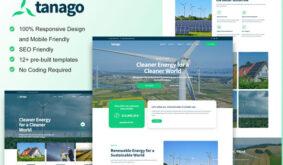 Tanago – Green Renewable Energy Elementor Template Kit