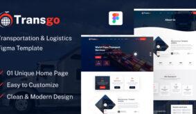 Transgo – Transportation & Logistics Figma Template