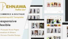 Boutique & Ecommerce Bootstrap4/5 Template