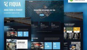 Fiqua – Aqua Farm & Fishery Services Elementor Template Kit
