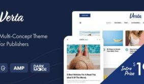 Verta – Multi-Concept WordPress Theme for Modern Publishers