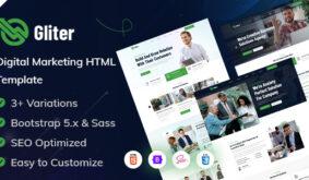 Gliter – Marketing Startup HTML Template