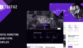 Qutiiz – Digital Marketing Agency HTML Template