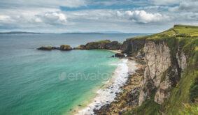 great nothern ireland coastline nature landscape