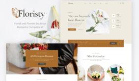 Floristy – Florist & Flower Boutique Elementor Template Kit