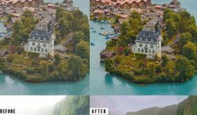 Landscape Photoshop Action & Lightrom Presets