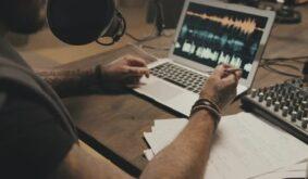 Guy Recording Podcast