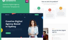 Colabora – Creative Digital Agency Elementor Template Kit