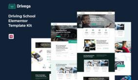 Drivega – Driving School Elementor Template Kit