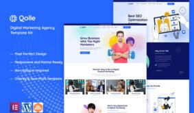 Qolle – Digital Marketing Agency Elementor Template Kit