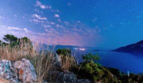 Milkyway over the mediterranean sea