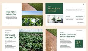 Modern Green Brown Business PowerPoint Template