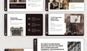 Scrap – Leather Shoes PowerPoint Template
